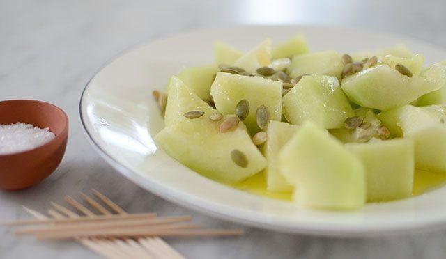 Melonsallad – perfekt liten drink- eller förrätt Melon salad - perfect for summer party