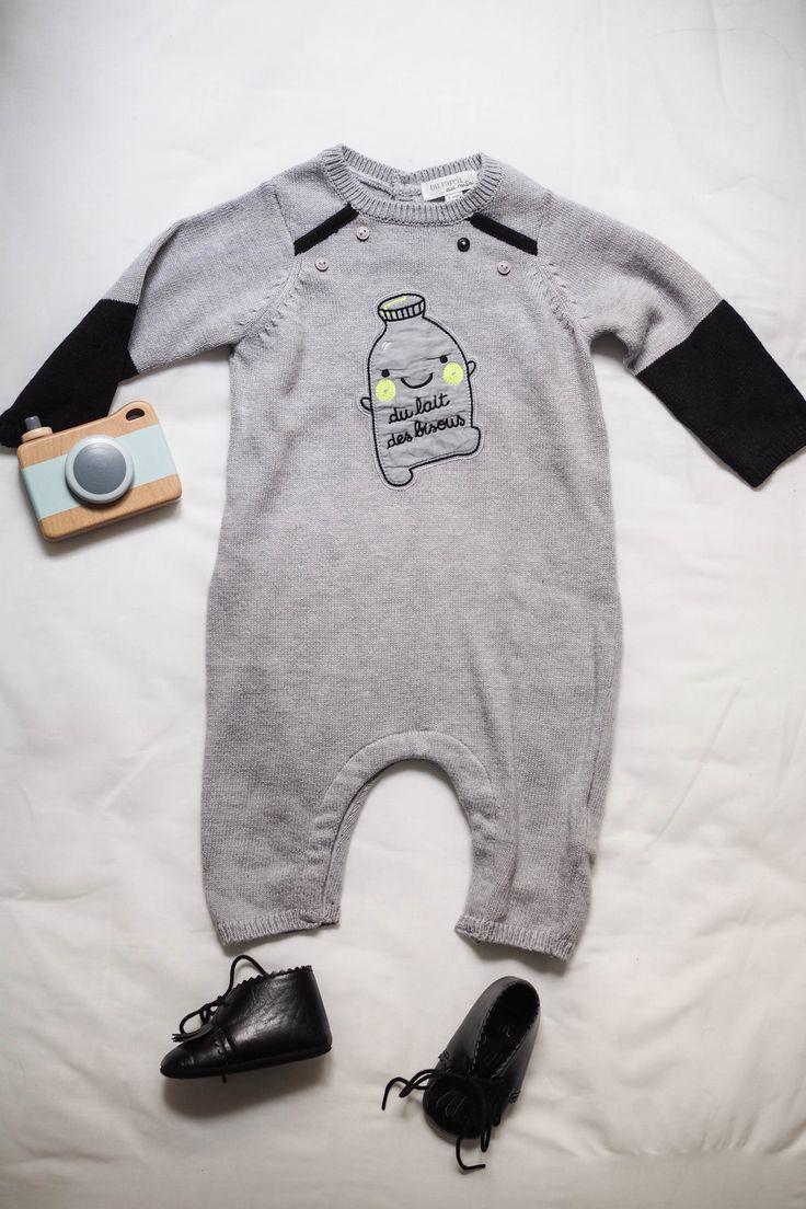 Une combinaison en maille et coton pour les fraîches journées de bébé. Blog - The Brunette.