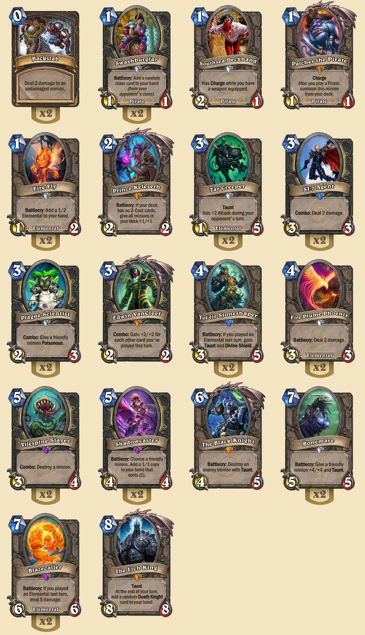 Rogue hunting log rank 1 - Hearthstone Rank 5 Elemental Rogue