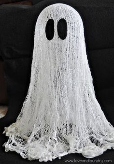 best 25 cheesecloth ghost ideas on pinterest simple halloween decorations halloween ghosts and diy ghost decoration