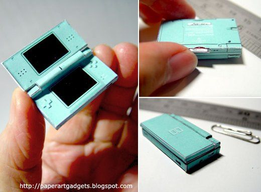 Check out this tiny papercraft model of an ice blue Nintendo DS Lite created by a really dedicated (and really patient) gaming fan. Even though it's only s