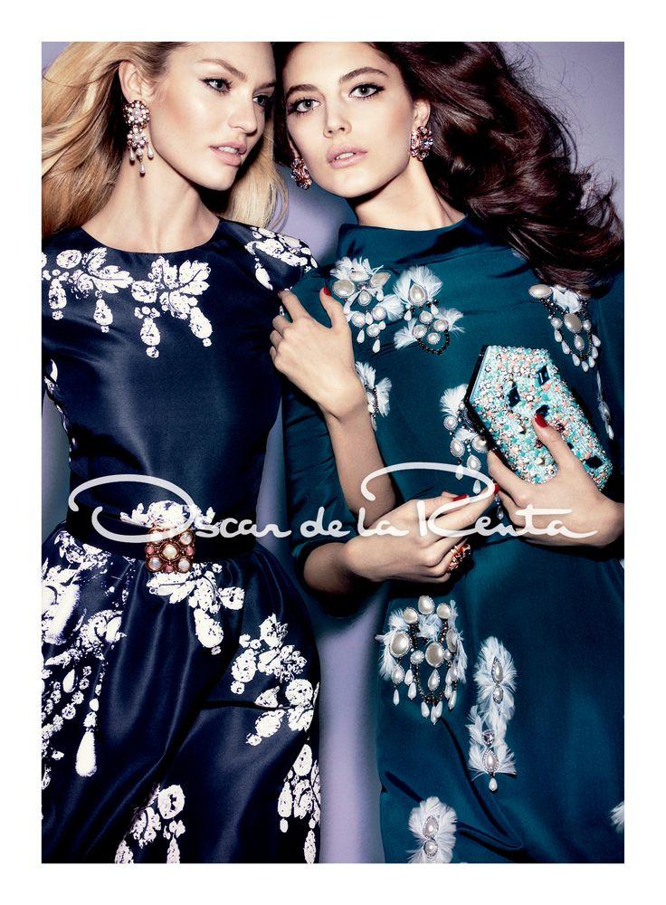 Oscar de la Renta - fall campaign no 3. -dark, sexy, florals