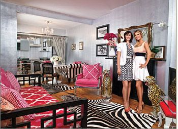 Ivanka Trump's assistant's studio apartment ROCKS!  I'm such a pink girly-girl I LUV how all the patterns play well with eachother.