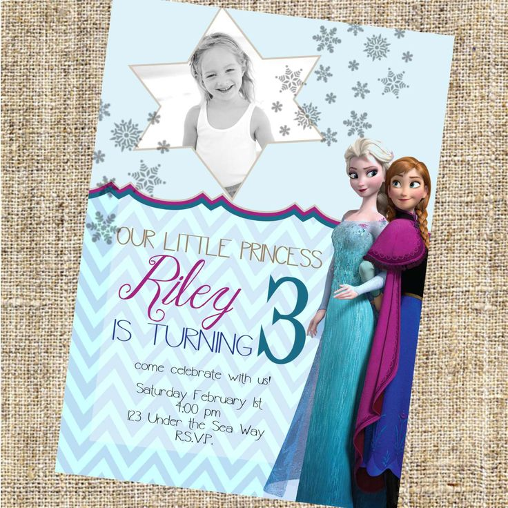 Image for Frozen Birthday Invitations Free Templates