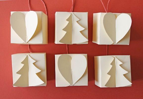 scatola di carta: abete e cuore