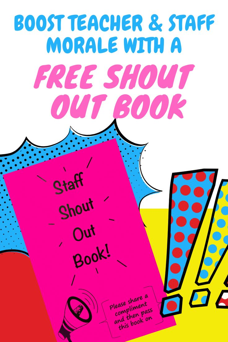 Shout Out Book to Boost Teacher and Staff Morale in 2020