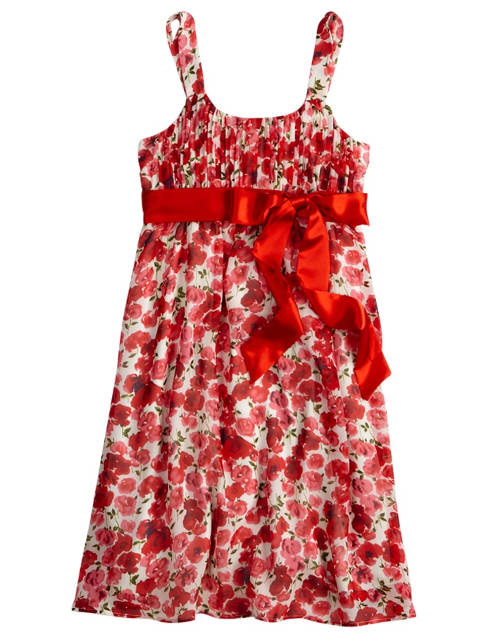 Girls Clothing   Dresses   Floral Chiffon Dress With Satin Tie   Shop Justice