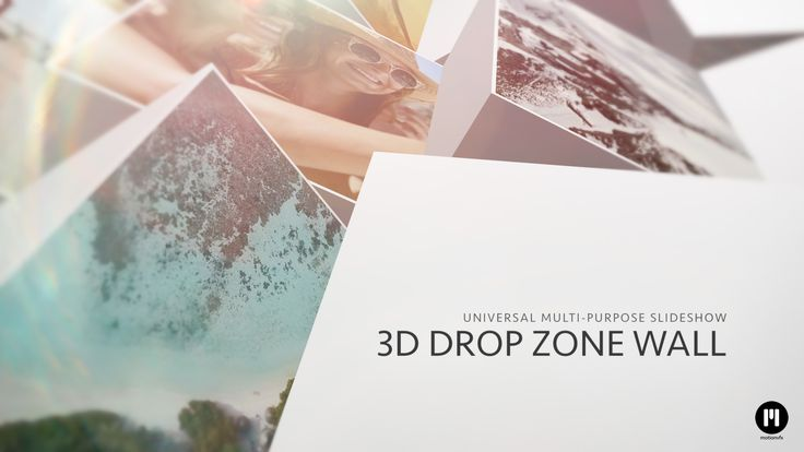 New Template! 3D Drop Zone Wall - www.motionvfx.com/N2184 #FCPX #Motion5 #Apple #Design #VideoEditing #FinalCutProX