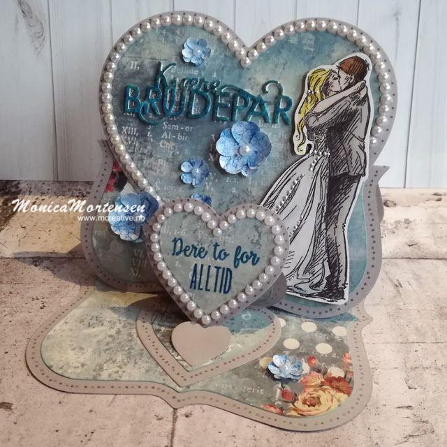 Scrappiness: Bryllupskort med bruk av stempelplate fra Kort & G...