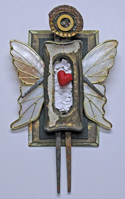 assemblage - Be My Angel by indiandollartworks, via Flickr
