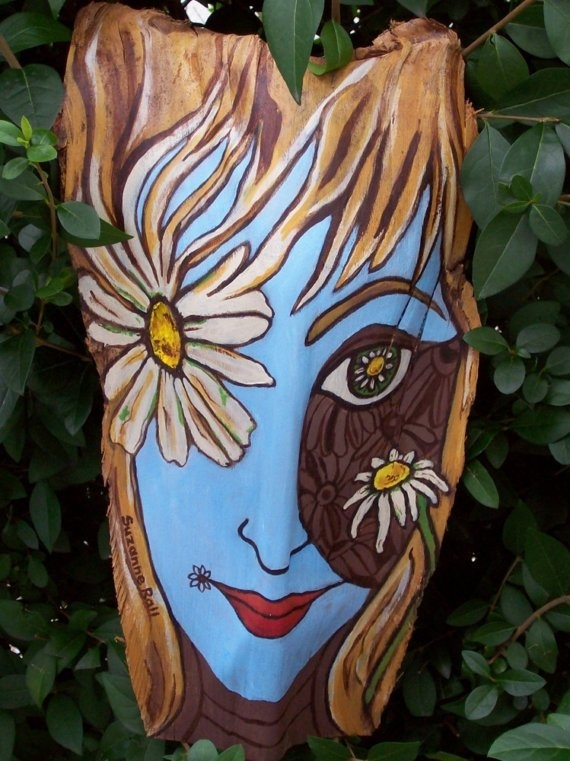 Painted Palm Frond Daisy by palmfrondartist on Etsy, $95.00