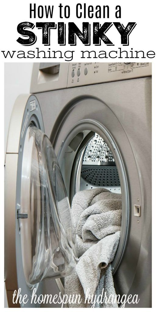 How to Clean a Stinky Washing Machine! #Cleaning #hacks
