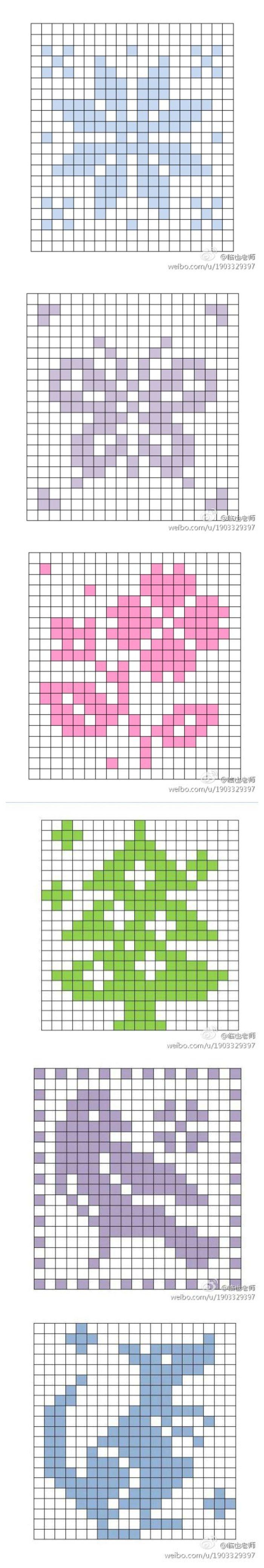 来自新浪微博@临也老师 制作的镂空钩织图案