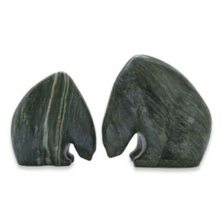 Soapstone Bears by Allan Waidman (Spruce Grove, AB). Member of the Alberta Craft Council.