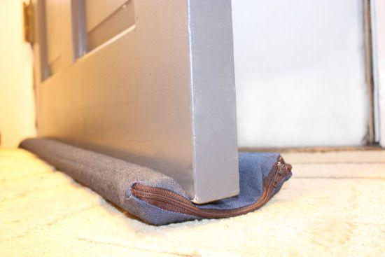 DIY Door Draft Guard Blog Wicked Mint