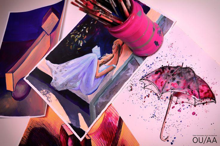 Purple sketches by Oana Unciuleanu