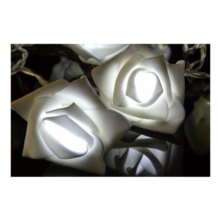 Vánoční interiérové osvětlení - růže - 20 LED, studeně bílé, na baterie - www.guge.cz