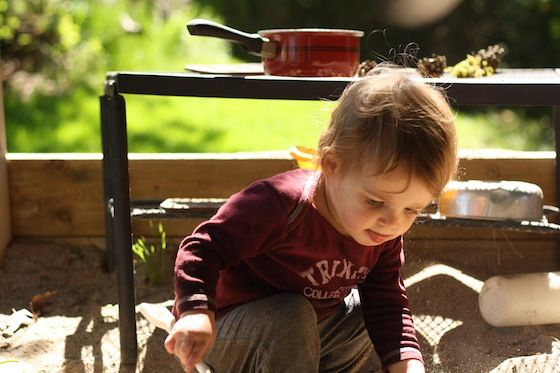 simple sandbox ideas - outdoor kitchen