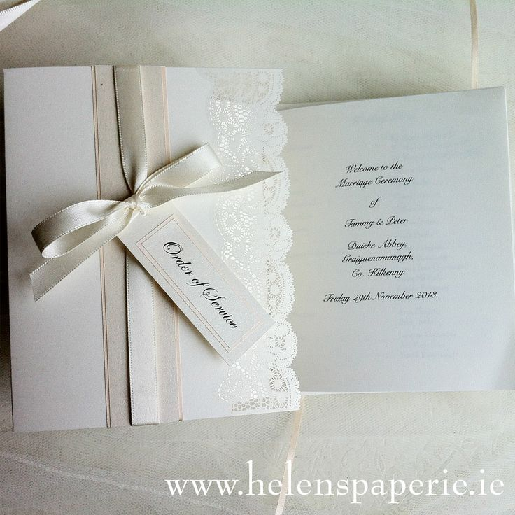 Vintage Lace Wedding Ceremony Booklet