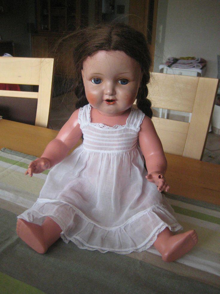 Schildkrötpuppe Schildkröt Puppe 50 Nr. 56 braun Echthaar Celluloid | eBay