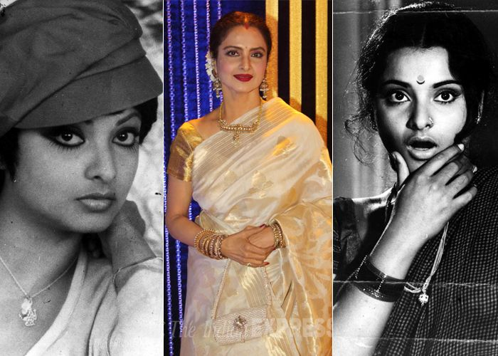 Bollywood's 'Khoobsurat' actress Rekha known for her mesmerising performance in films like 'Umrao Jaan', 'Silsila' and power packed aura in films like 'Khoon Bhari Maang' celebrates her 59th birthday today. On her birthday we share some interesting facts about the actress. (Express archive photo/ Varinder Chawla)