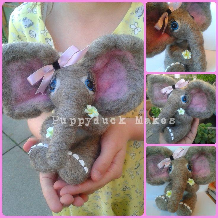 Needle Felt Elephant Custom Slot - pinned by pin4etsy.com