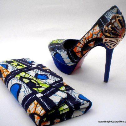 You would just love. Ankara shoe n purse