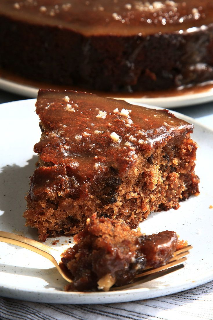 NYT Cooking: This cake is a showstopper that a baker with rudimentary skills could pull off. The topping is a toffee glaze made with brown sugar, agave, butter and sea salt