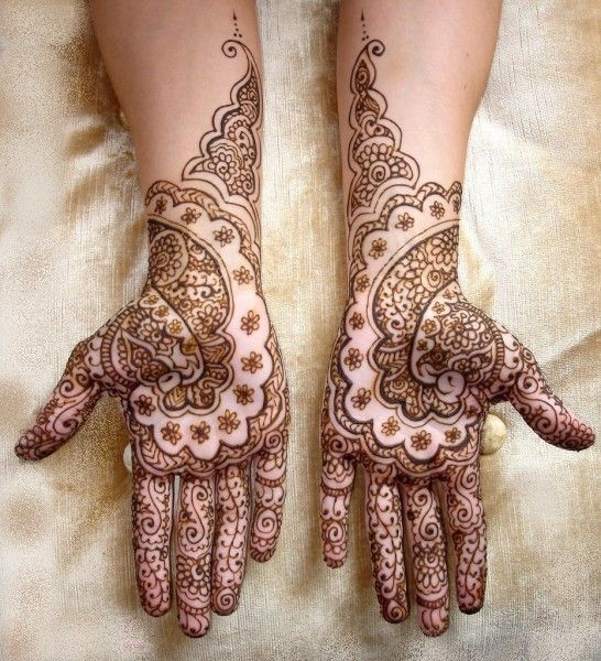 East Indian Henna Tattoo: Mehndi Is The Traditional Art Of Henna Painting In India