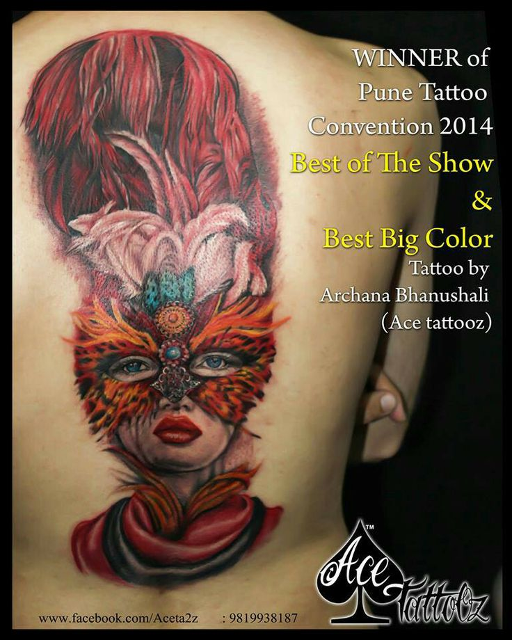 #besttattoo #awardwinningtattoo #colourtattoo #acetattooz #mumbai #femaletattooartist #archananakhua #tattoo #ink #tattooideas #tattoosociety #indianartist #celebrityartist #happiness #gift #inked #indiantattoo #valentine #music #bestclick #photgrphy #acetattooz #mumbai #awesometattoos #tattooshop #no1tattoodesigns #mask #facetattoo #masklady #feathertattoo #lips #eyes #lovelytattoo #love #backtattoo #sketch #awesome #idea #art