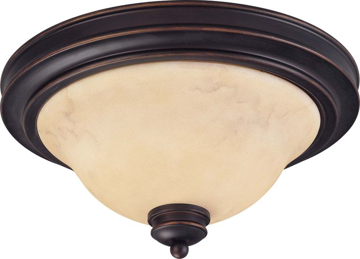 Nuvo Anastasia - 2 Light 13 inch Flush Dome w/ Honey Marble Glass