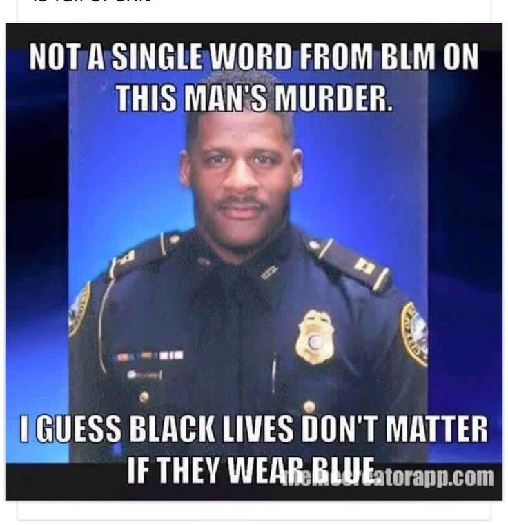 Wow actually there has been a few cops murdered that were also black not just white cops!