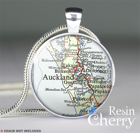 Auckland Map Pendant