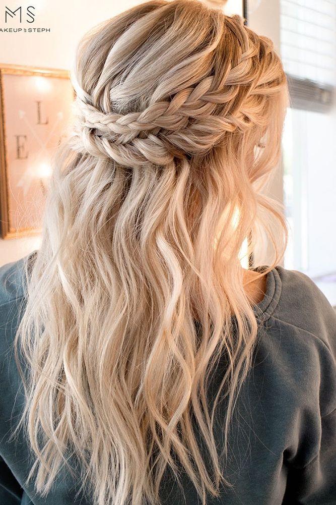 30 Overwhelming Boho Wedding Hairstyles ❤ boho wedding hairstyles bohemian braided crown ihms ❤ See more: http://www.weddingforward.com/boho-wedding-hairstyles/ #wedding #bride #weddinghairstyles #bohoweddinghairstyles