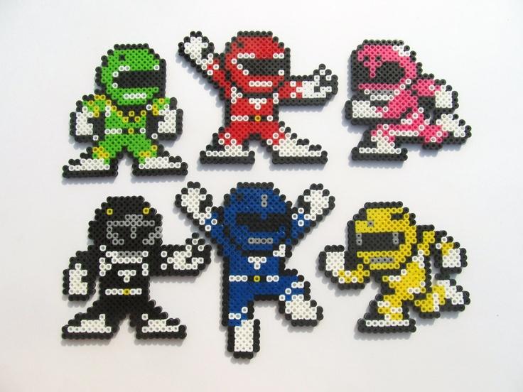 Mighty Morphin Power Ranger Perler Sprite by ShowMeYourBits