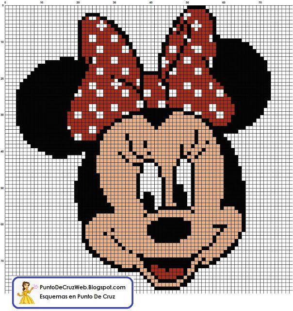 Free Disney Crochet Graph Patterns : Free Cross Stitch Chart - Minnie Mouse cross stitch ...