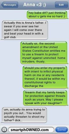 When you need to lay down the law.   21 Times Text Messages Are The Only Way To Say It