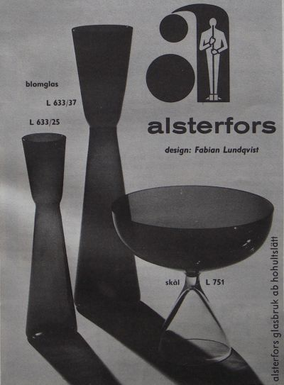Reklam från Alsterfors glasbruk
