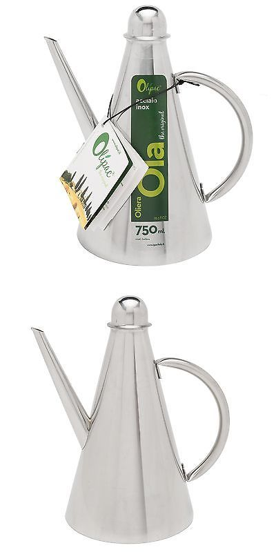 Oil and Vinegar Dispensers 54122: Olive Oil Container - Stainless Steel Ola Can Holds 750Ml - Olipac By Ipac -> BUY IT NOW ONLY: $34.86 on eBay!