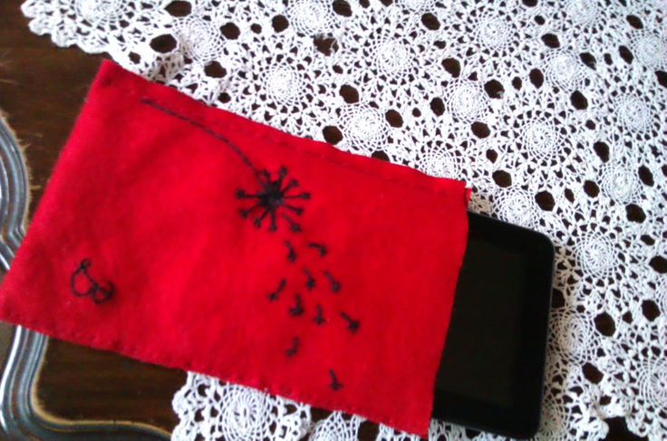 Get ready for school, and make a tablet case with a dandelion and a monogram
