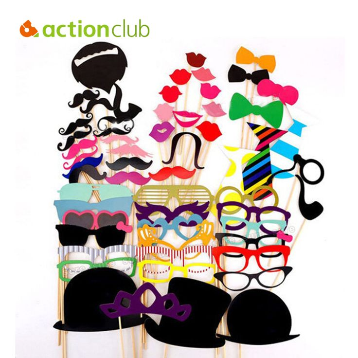 Actionclub Wedding Decoration 58Pcs/Lot DIY Mask Photo Booth Props Mustache On A Stick Birthday Event  Party Supplies Decoration on Aliexpress.com | Alibaba Group