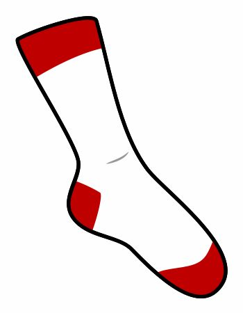 Cute cartoon socks drawn with three basic shapes.