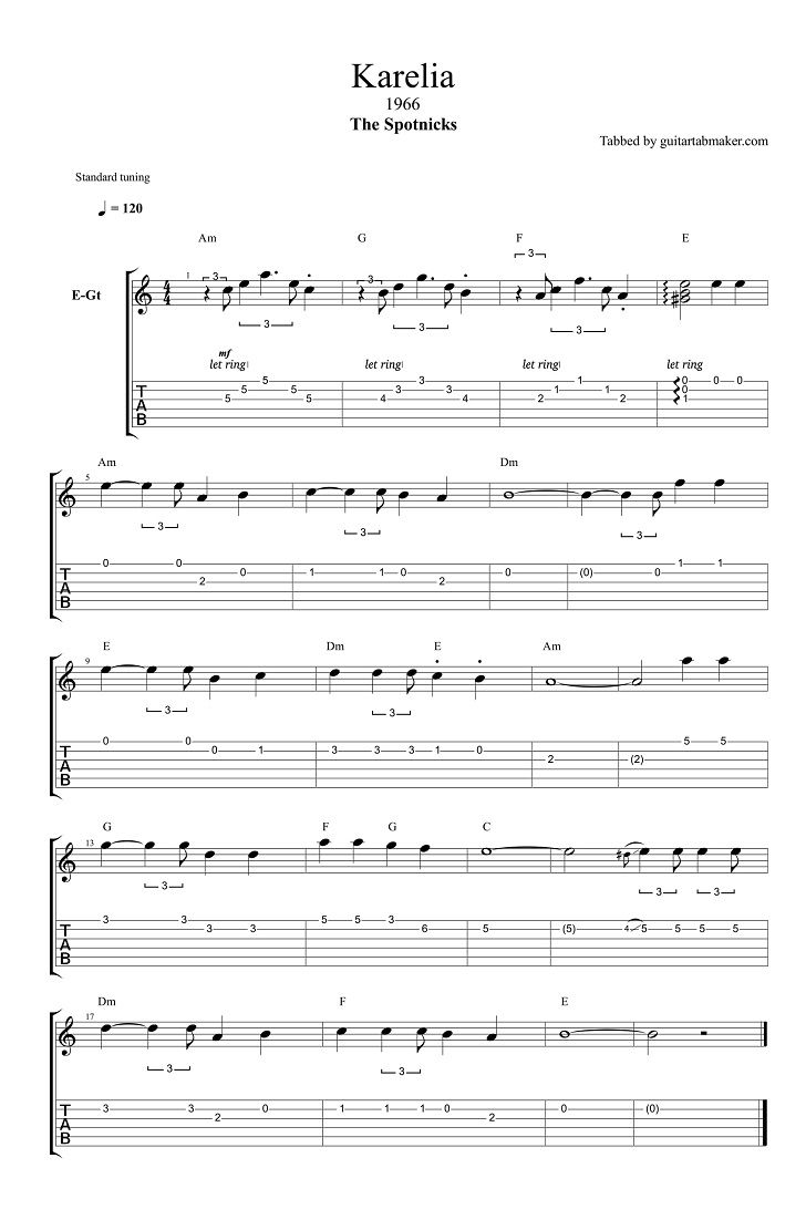118 best easy instrumental guitar songs i want to learn images on the spotnicks karelia guitar tabs instrumental guitar tab easy pdf guitar hexwebz Image collections