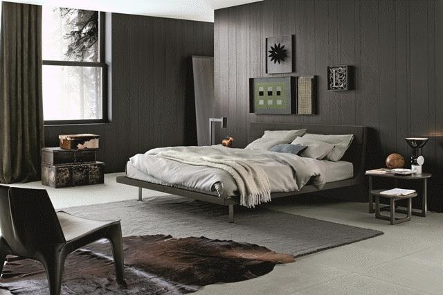 POLIFORM: Angie bed, BB armchairs and Tridente coffee table