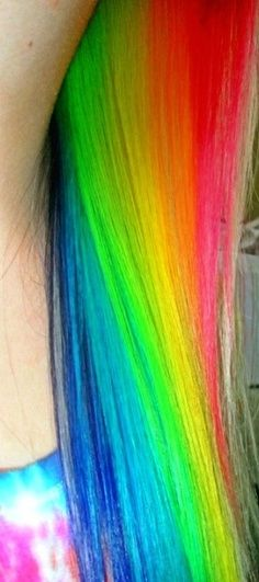 See my hair with faux blonde highlights : http://www.youtube.com/watch?v=IpVL6zU9HPE #rainbowhair