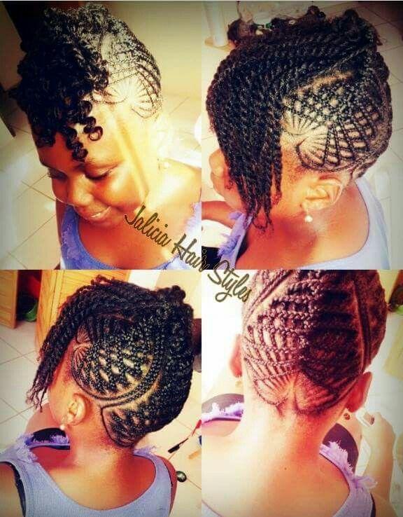 Criss cross braids w/ twists