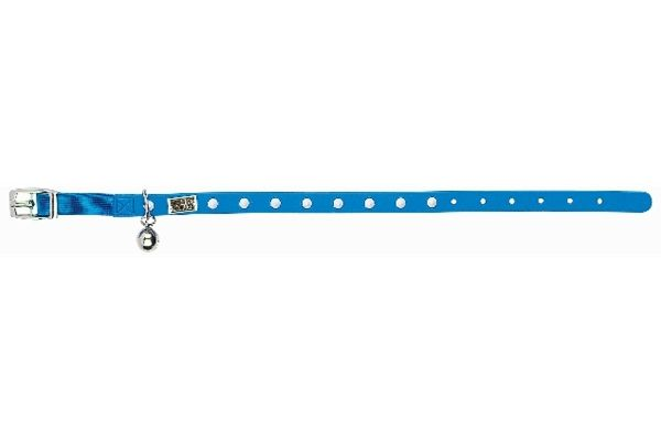 Gummi Pets Cat Collar Blue w/ Glow in the Dark Spikes waterproof NEW