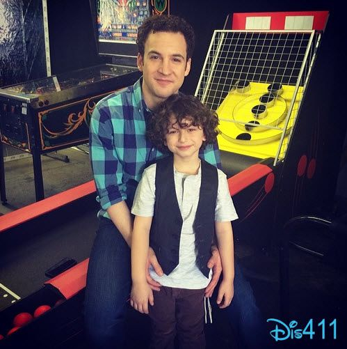 Photo: August Maturo With His TV Dad Ben Savage March 28, 2014