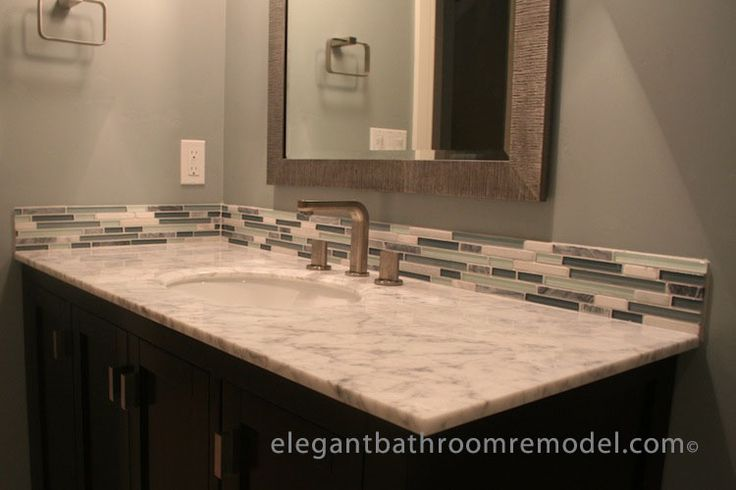 1000 images about bathroom renovation ideas on pinterest for Small bathroom vanity backsplash ideas