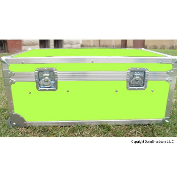 Safari Lime Large ATA College Footlocker with Recessed Wheels and Tray | FREE SHIPPING